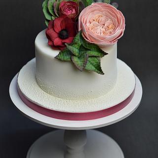 Cake with chocolate flowers - Cake by JarkaSipkova