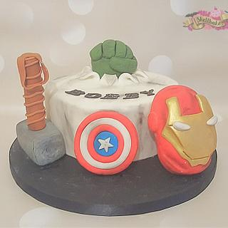 Amazing Avengers birthday cake