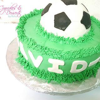 Buttercream Soccer Cake