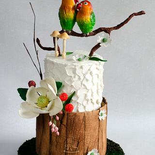 Love Birds Wedding Cake !!