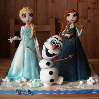 Frozen - sculpted cake