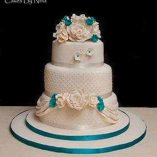 Cream and Teal Wedding