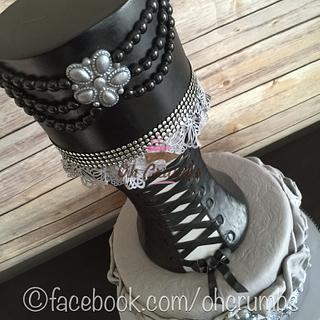 Gothic style corset cake  - Cake by Oh Crumbs