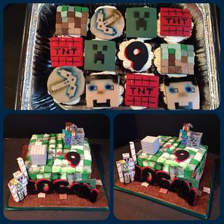 Minecraft cake - Cake by Sheri Hicks