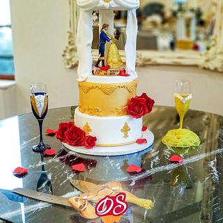 The Beauty and the Beast - Cake and Candy Bar  for a Wedding