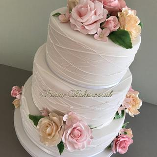 Pastel rose's Wedding cake.