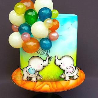 L💚VE - Cake by Mariya's Cakes & Art
