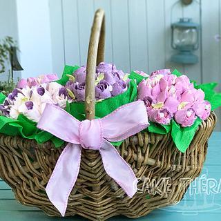 Cupcake flower bouquet.