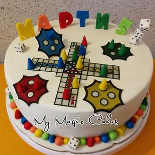 Ludo game cake for Marty