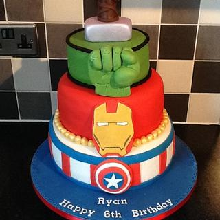 Avengers cake. - Cake by Michelle.