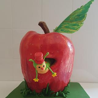 The caterpillar inside the apple