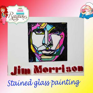 Stained glass painting  Jim Morrison
