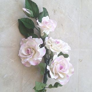 Gum paste rose spray
