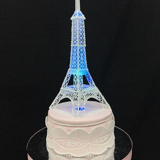 Eiffel Tower Cake - Cake by Grazie cake and sugarcraft studio