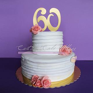 60th white cake