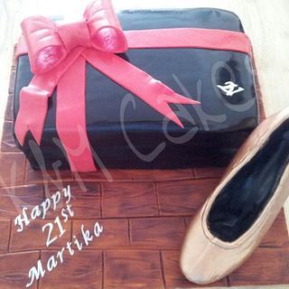 Shoe box cake & Chocolate shoe