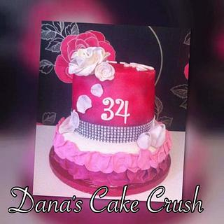 Roses bling cake with