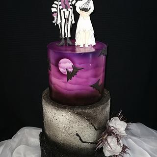 Beetlejuice wedding cake