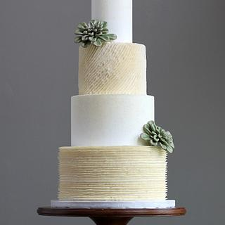 Buttercream Ruffles Wedding Cake