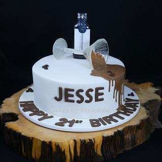 Isomalt Martini Glass 21st Birthday Cake
