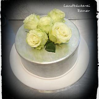 Luster Dust Silver Birthday Cake
