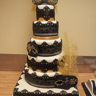 black cake lace