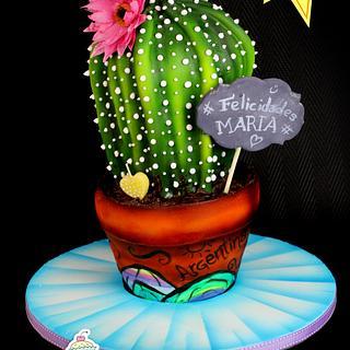3D Cactus cake