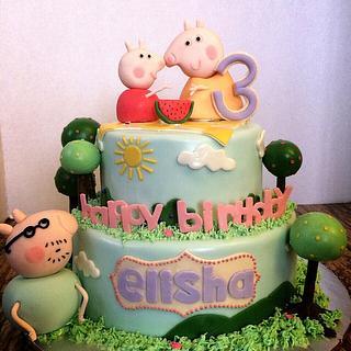 A Peppa Pig birthday! - Cake by Emsspecialtydesserts
