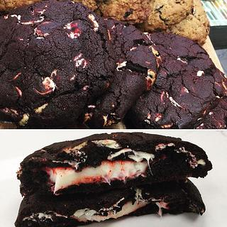 Red Velvet Cookie With a Cream Cheese Filling
