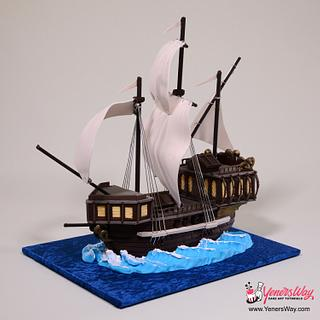 Simple 3D Galleon Ship Cake