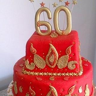 Indian design inspired cake