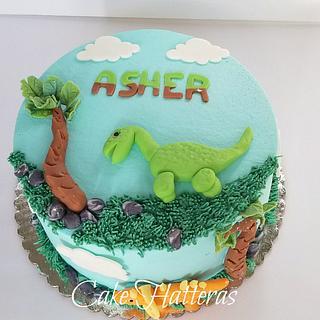 Dinosaur's for Asher - Cake by Donna Tokazowski- Cake Hatteras, Hatteras N.C.