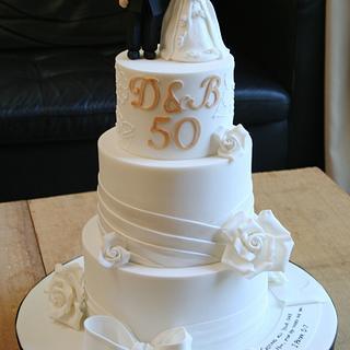 My parent's 50th Wedding Anniversary Cake