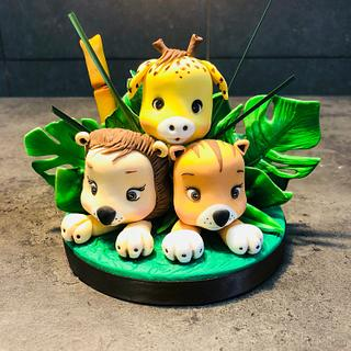 Cake topper jungle
