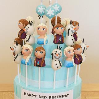Frozen Themed Cake Pop Display