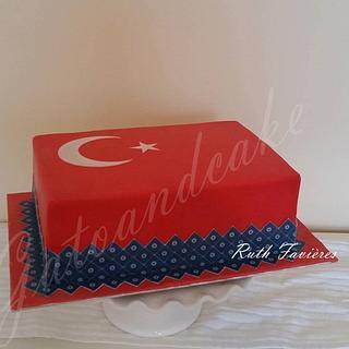 Turkish flag - Cake by Ruth - Gatoandcake