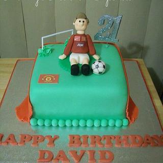 Man Utd Football themed Cake - Cake by Mandy Morris