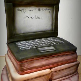 Laptop/Book Cake