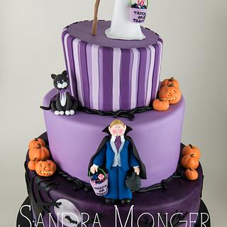 Halloween wedding cake - Cake by Sandra Monger