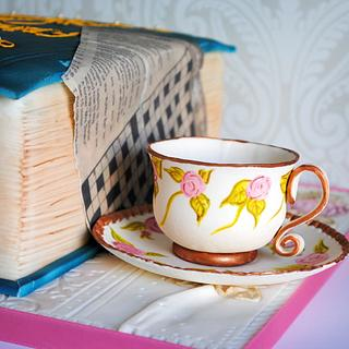 Book and Teacup
