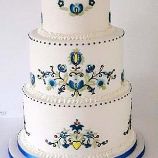 Folk wedding cake  - Cake by Agnieszka