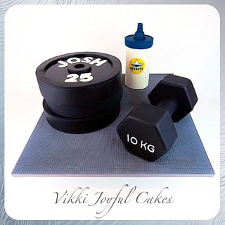 Josh's gym birthday cake