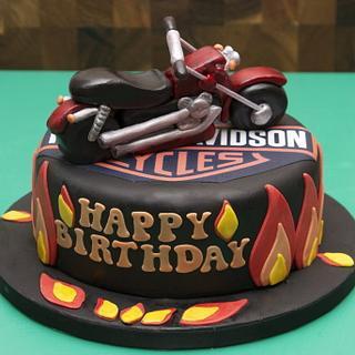 Harley Davidson cake - Cake by Kelly