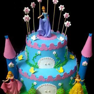 Princess Castle Whipped Cream Cake