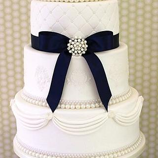 Simply Sophisticated - Cake by Bunty's Wedding Cakes