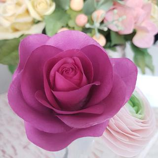 #sugarpaste #rose #sugarrose