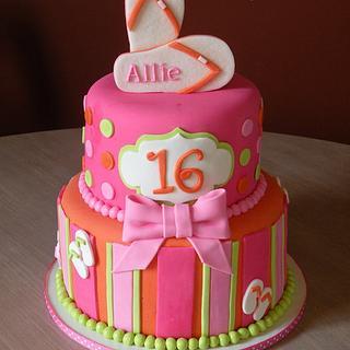 Luau themed sweet 16 - Cake by Dani Johnson