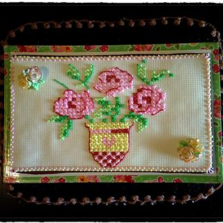 Cross stitch roses!