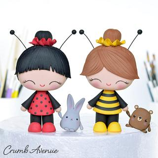 Bee and Ladybug ;) - Cake by Crumb Avenue