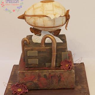 Steampunk Style Cake